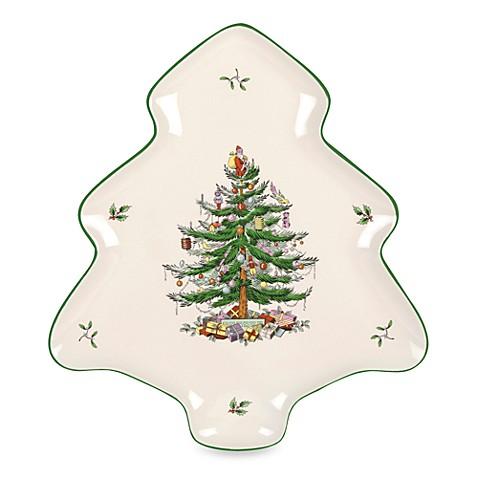 Spode Christmas Tree Tree Shaped Platter Bed Bath Beyond