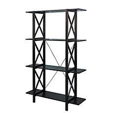 image of Emily Double Bookcase in Black