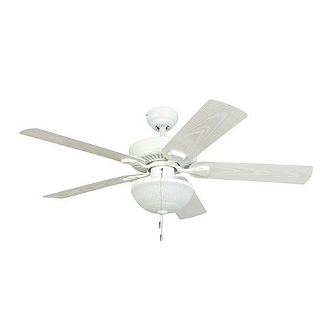 Buy 52 Inch Halifax White Outdoor Ceiling Fan With Light