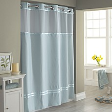 Image Of Hookless® Escape Fabric Shower Curtain And Shower Curtain Liner Set