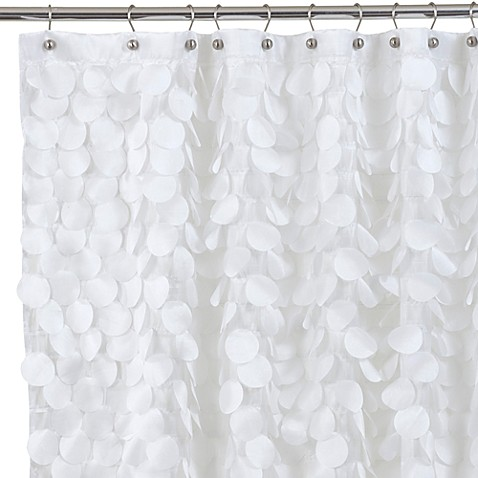 Gigi 72 Inch X Fabric Shower Curtain In White