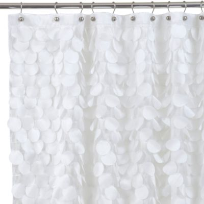 Gigi 72 Inch x 72 Inch Fabric Shower Curtain in White Bed Bath