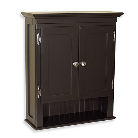 Fairmont Wall Mounted Cabinet in Espresso