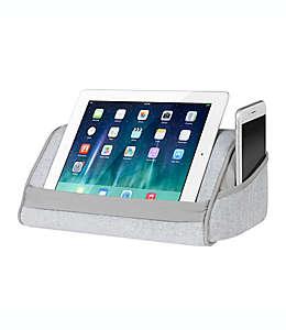 Almohada para tablet Heritage LapGear™ en gris herringbone