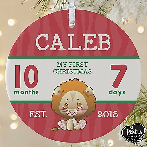 1 sided matte precious moments personalized baby s 1st christmas