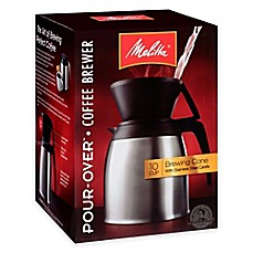 image of Melitta® Thermal Stainless Steel 10-Cup Pour Over Coffee Maker