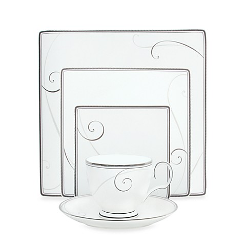 Noritake® Platinum Wave Square 5-Piece Place Setting