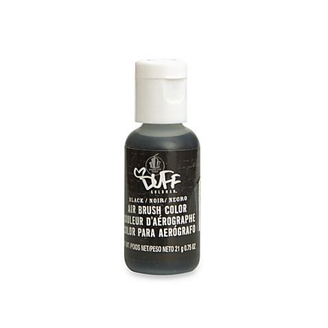 Duff™ Cake Decorating Airbrush Color in Black