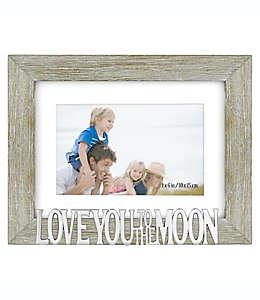 Love You To The Moon Portarretratos para foto de 10.16 x 15.24 cm en gris