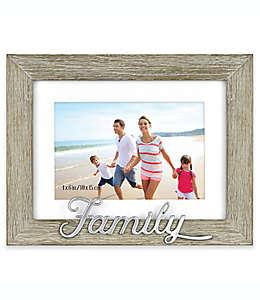Family Portarretratos para foto de 10.16 x 15.24 cm en gris