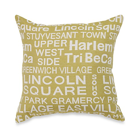 Neighborhood Park Throw Pillow