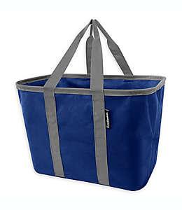 Bolsa ecológica Ecobasket CleverMade multiusos de 39.37 cm en azul/gris