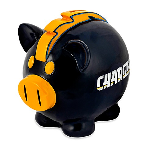 Nfl Resin Piggy Bank Gt Nfl San Diego Chargers Resin Piggy