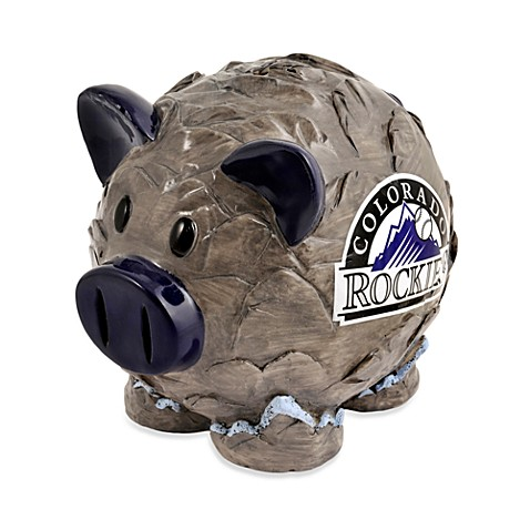 Buy colorado rockies resin piggy bank from bed bath beyond - Resin piggy banks ...