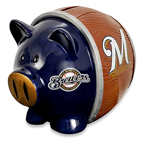 Milwaukee brewers resin piggy bank buybuy baby - Resin piggy banks ...