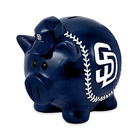 San diego padres resin piggy bank from mlb from buy buy baby - Resin piggy banks ...