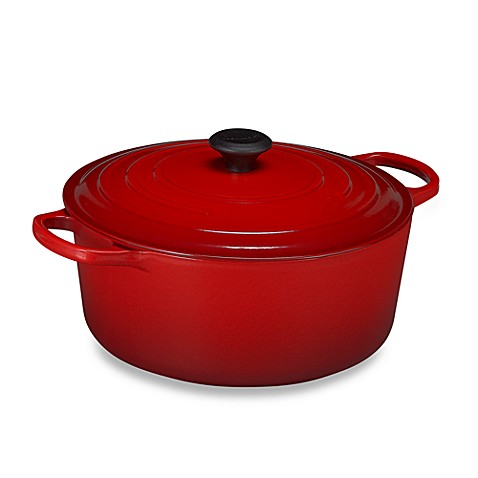 buy le creuset signature 9 qt round french oven in cherry from bed bath beyond. Black Bedroom Furniture Sets. Home Design Ideas