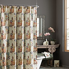 image of Croscill® Mosaic Leaves Fabric Shower Curtain