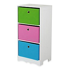 image of HDS Trading 3-Drawer Storage Shelf