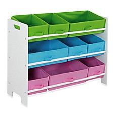 image of HDS Trading 9-Bin Storage Shelf