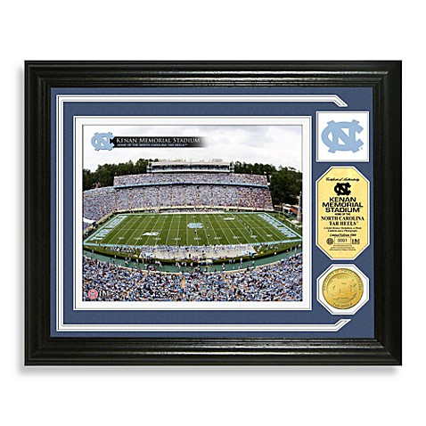University of North Carolina Football Stadium Minted Team Medallion Photo Frame