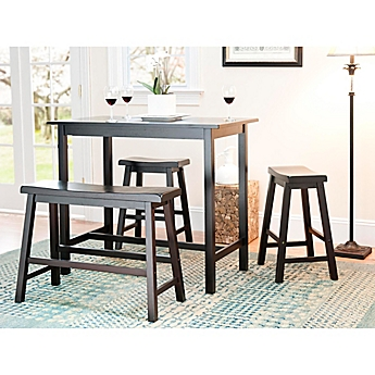 image of safavieh american home ron in 4piece pub table set
