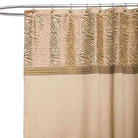 Serengeti Tan Fabric Shower Curtain
