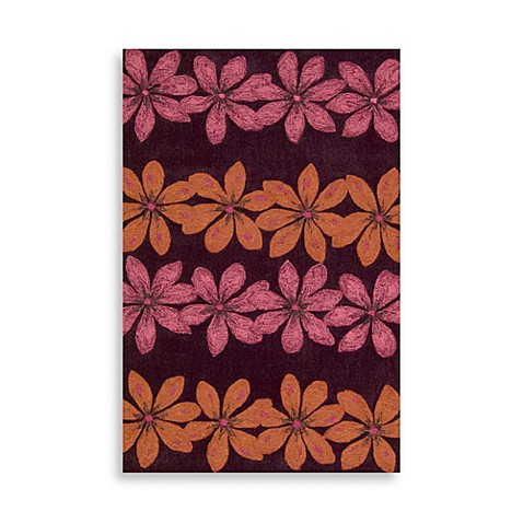 "Nourison Contour 5' x7'6"" Hand Tufted Area Rug in Plum"