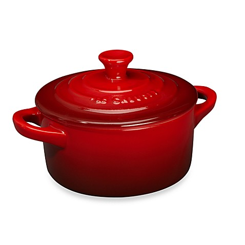 buy le creuset mini round stoneware cocotte in cherry from bed bath beyond. Black Bedroom Furniture Sets. Home Design Ideas