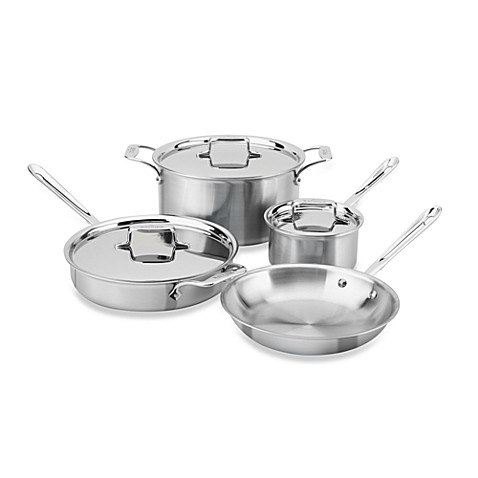 allclad d5 brushed stainless steel 7piece cookware set and open stock