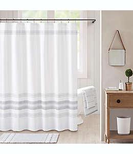 BBee & Willow™ Home Midsomer Cortina de baño con líneas en blanco/gris carbón