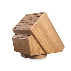 image of Zwilling J.A. Henckels 26-Slot Bamboo Swivel Knife Storage Block