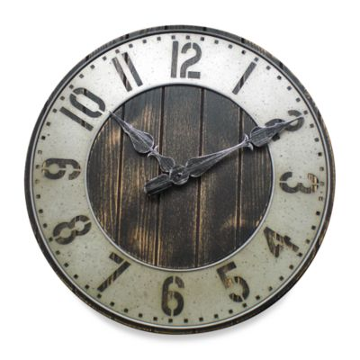 image of Rustic Punched Metal Wall Clock