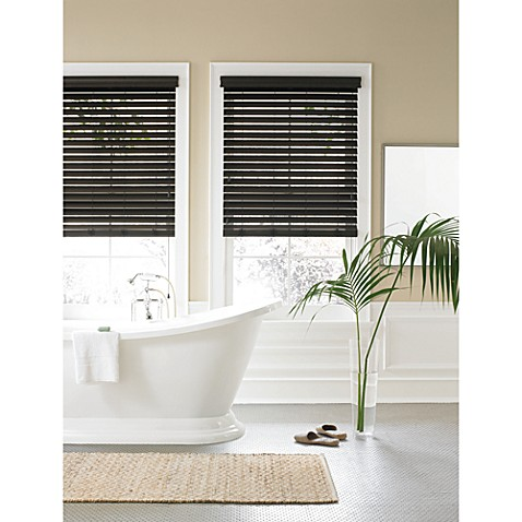 Real simple faux wood window blind bed bath beyond for 18 inch window blinds