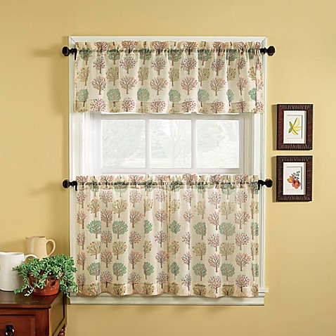 Orchard window curtain tiers bed bath beyond - Modern valances for kitchen ...