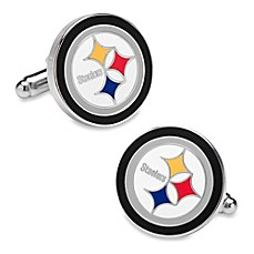 image of NFL Silver Pittsburgh Steelers Cufflinks