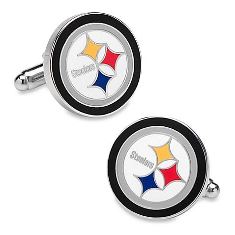 Cufflinks; gt; NFL Silver Pittsburgh Steelers Cufflinks from Buy Buy Baby