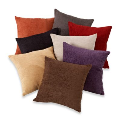 Decorative Pillows With Fringe Part - 41: Crown Chenille Throw Pillow (Set Of 2)