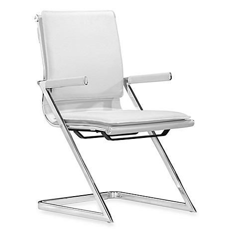 Zuo® Modern Lider Plus Conference Chair in White (Set of 2)