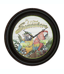 "Reloj de pared Margaritaville® con frase ""Its 5 O'Clock Somewhere"" de 66.04 cm"