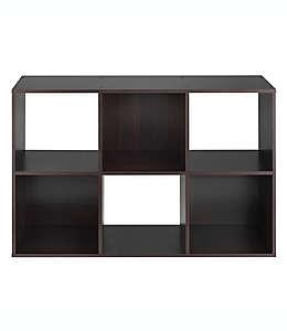 Repisa organizadora de 6 estantes Relaxed Living en negro