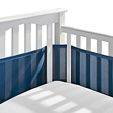 BreathableBabyR Breathable Mesh Crib Liner In Navy