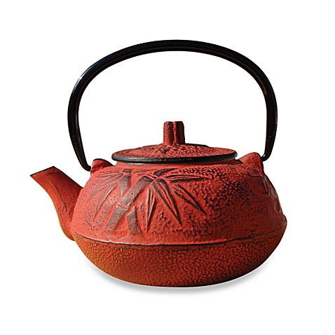 Buy tetsubin osaka 20 oz cast iron teapots with infuser in red from bed bath beyond - Japanese teapot with infuser ...