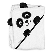 image of Frenchie Mini Couture Extra-Large Panda Face Hooded Towel