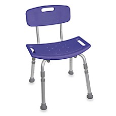 image of Drive Medical Bathroom Safety Shower Tub Chair with Back in Blue