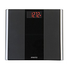 Image Of Homedics Black Glass Led Digital Bathroom Scale