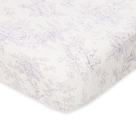 Glenna Jean Penelope Toile Fitted Crib Sheet
