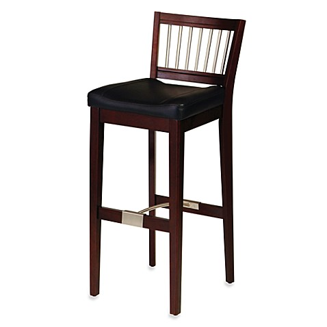 Home Styles Upholstered Cherry Bar Stool Bed Bath Amp Beyond