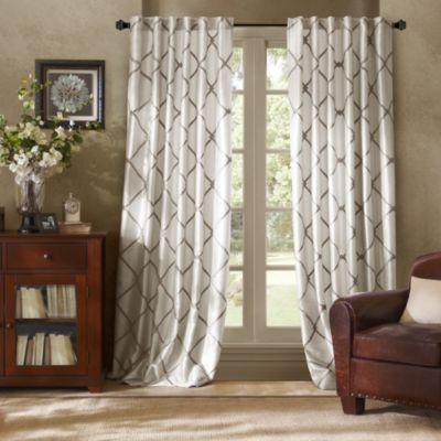 Bombay Garrison Rod PocketBack Tab Window Curtain Panel Bed