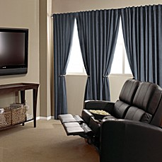 image of Absolute Zero Velvet Blackout Home Theater Curtain Panels